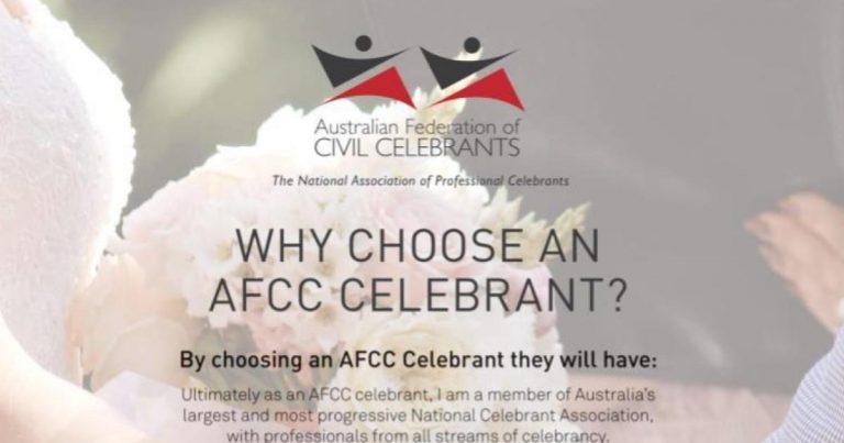 why choose an afcc registered celebrant joy williams